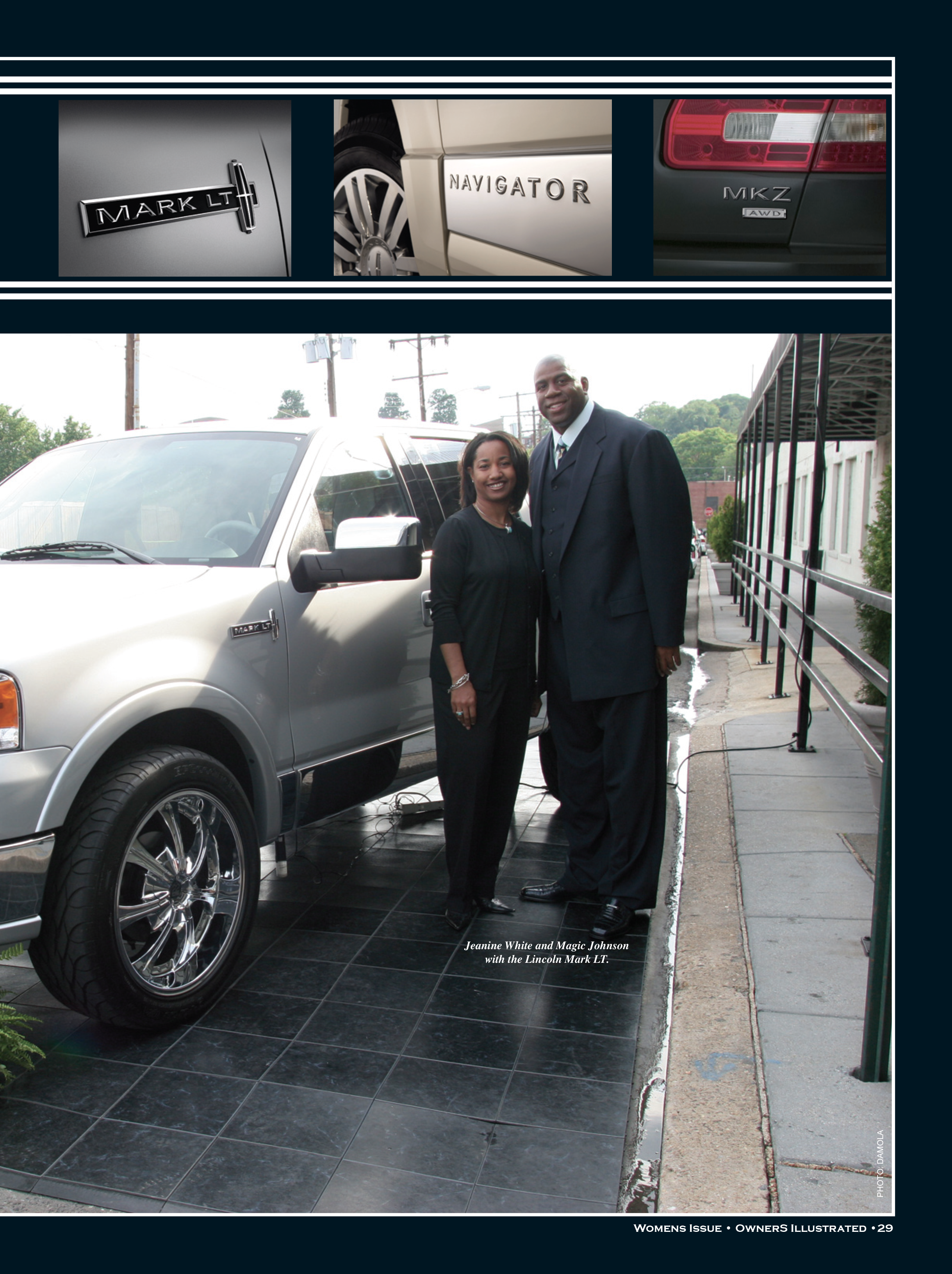Magic Johnson and Jeanine White Lincoln